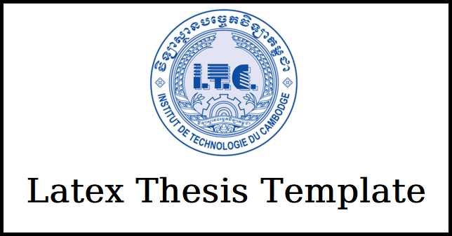 Thesis Template in Latex
